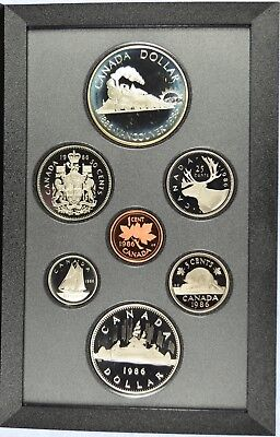 1986 Royal Canadian Mint Proof Set - With orignal Gov Packaging & COA (b453.4)
