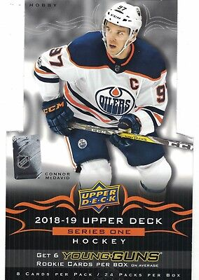18-19 2018-19 Upper Deck Series 1 Complete 200 Card Base Set #1-200 L@@K