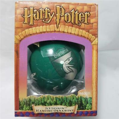 Enesco Harry Potter Slytherin Glass Ball Hanging Christmas Ornament New in Box