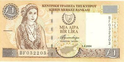 Cyprus 1 Pound Currency Banknote 2004 AU