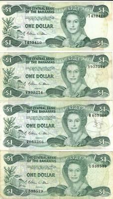 Lot 4 Bahamas $1 Currency Banknote 1984 - Allen Signature