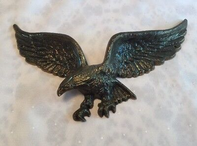 Vintage Cast American Bald Eagle #7037 Decorative Wall/Door Mount Plaque 9""