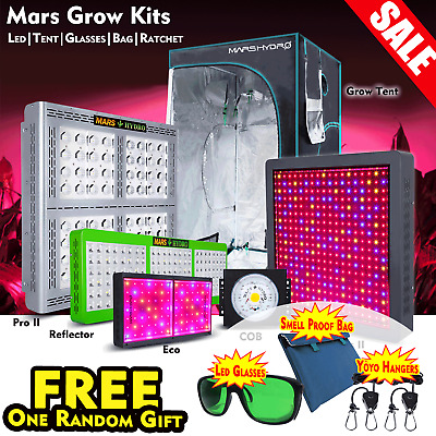 Mars Hydro 300W~1600W Full Spectrum LED Grow Lights Grow Tent Veg Flower Kits
