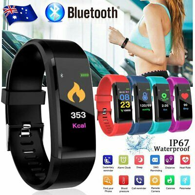 New Fitness Activity Tracker Heart Rate Monitor Smart Watch Band Wristband IP67