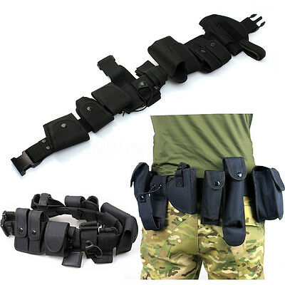 New POLICE SECURITY MODULAR EQUIPMENT SYSTEM DUTY BELT NICE Molded Nylon  !