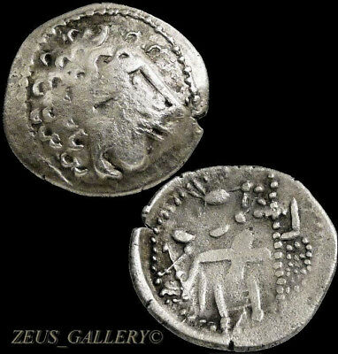 Celts Silver Alexander the Great Drachm Herakles type Ancient Celtic Greek Coin