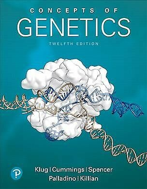 Concepts of Genetics, Hardcover by Klug, William S.; Cummings, Michael R.; Sp...