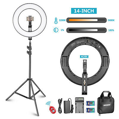 """Neewer Photo Studio 14"""" Outer Dimmable Bi-color SMD LED Ring Light Lighting Kit"""