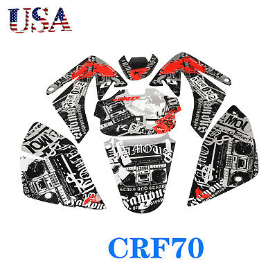DECAL GRAPHICS STICKER Kit Atomik For CRF70 SDG SSR PIT PRO