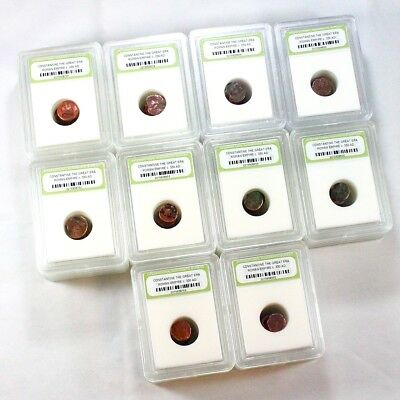 Slabbed Lot of 50 Ancient Roman Bronze Coins c 50 BC - 400 AD - Exact Lot 3356