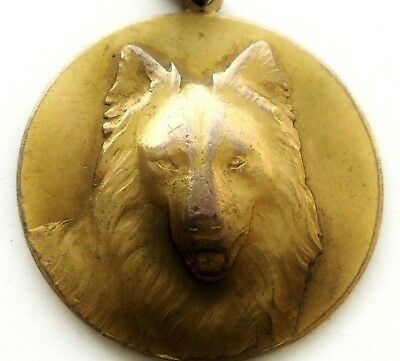 Belgian Shepherd Dog - Beautiful Antique Art Medal Pendant