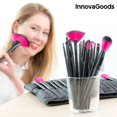 InnovaGoods Set van 24 Make-Up Kwasten en Penselen