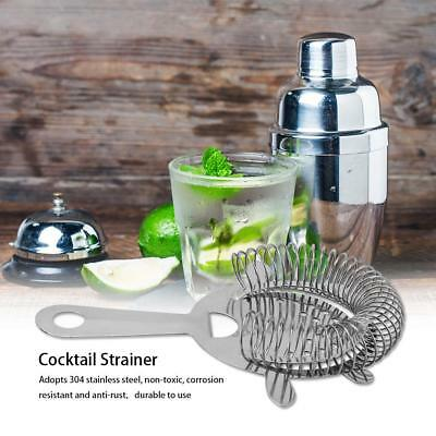 Home Cocktail Shaker Strainer Bar Ice Mixed Drinks Stainless Steel Filter Silver