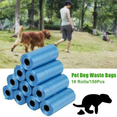 10 Rolls Biodegradable Dog Poo Bag Pet Cat Waste Poop Clean Pick Up Garbage Bags