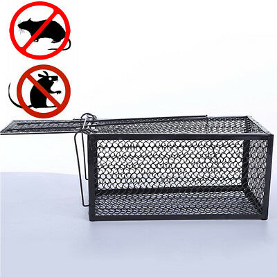 Rat Catcher Spring Cage Trap Humane Large Live Animal Rodent Indoor Outdoor Tool