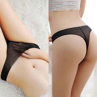 Sexy Womens Ultra-thin See Through G-string Briefs Panties Thong Underwear Hot