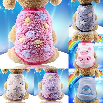 Pet Clothes Sweater Chihuahua Teddy Small Dog Coat Jacket Flannel Soft Warm