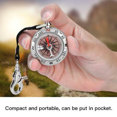 Portable Rudder Keychain Ring Precise Compass Camping Hiking Hunting Survival