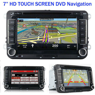 "7"" Autoradio Touchscreen Navi GPS DVD BLUETOOTH RDS Für VW GOLF PASSAT TOURAN"