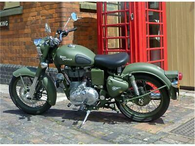 Nuovo custom royal enfield 500 VERDE 2016