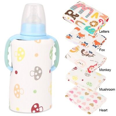 Cotton Portable Bottle Warmer Heater Travel Baby Kids Milk Water USB Cover Pouch