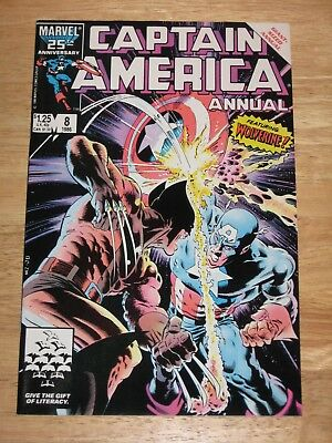 Captain America Annual 8 with Wolverine  1986 Marvel Comics  Unread High Grade