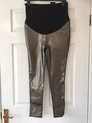 New  Next Maternity Bronze Shimmer Coated Legging / Trousers Size 12 Short £32