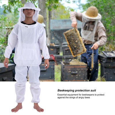 Safety White BeeKeepers Bee Suit Beekeeping Protective Equipment-Premium Quality