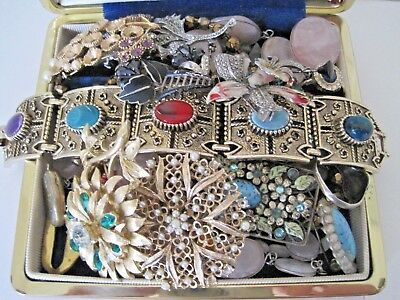 Antique/Vintage Jewellery Lot Victorian onward - most for repair/spares