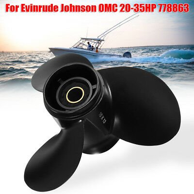 10 x 13 Marine Boat Ship Outboard Propeller For Evinrude Johnson 15-35HP 778863