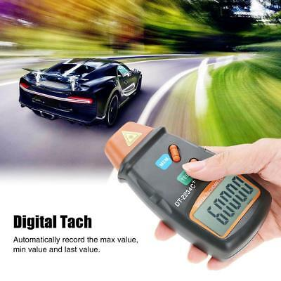 Handheld LCD Digital Laser Photo Tachometer Non Contact RPM Tach Tester Meter