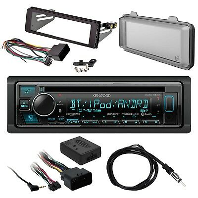 Kenwood Bluetooth Receiver, Dash Kit, Handlebar Interface, Radio Shield, Antenna