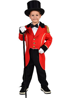 KIDS - Red Tailcoat  / Ringmaster / Greatest  Showman  Costume  / Hat