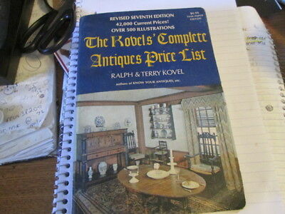 Vintage The Kovel's Complete Antiques Price Guide 7th Edition 1974-75