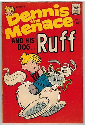 Dennis The Menace And His Dog Ruff #1 1961 Early Silver Age First Issue Nice!