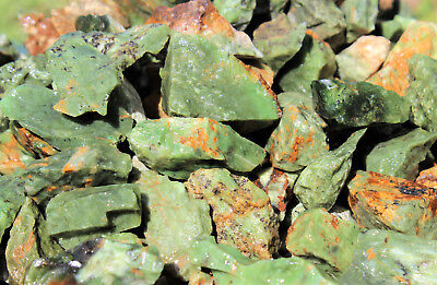5 lb Bulk Wholesale Lot of Natural Rough Chrysoprase Crystals (Raw Rock Mineral)