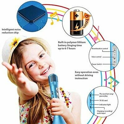Kids Microphone for Girls Boys Family Wireless Karaoke Microphone with Speaker