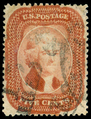 Momen: Us Stamps #27 Used Brick Red Shade