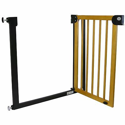 Clippasafe Pressure Fit Extendable Stair Gate - Wood & Metal Finish.