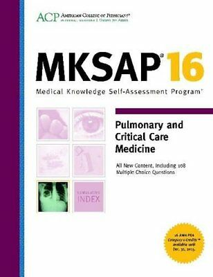 MKSAP 16: Pulmonary and Critical Care Medicine
