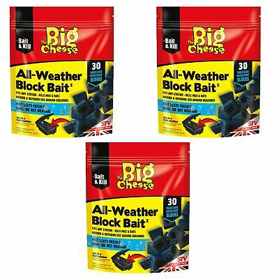 Big Cheese Professional Strength Block Bait Rat & Mouse Killer Poison