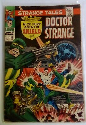 Strange Tales 155 Dated April 1967. Very Good Condition.  Dr Strange. Steranko.