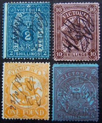 British Commonwealth. Selection of QV to GV revenues. Face vals to £1 (57 items)