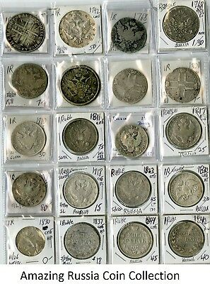 Russia Lifetime OLD Coin Collection Lot of 3,523 Coins Silver Copper UNIQUE