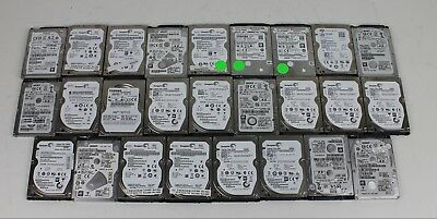 """Lot of (26) 500GB Laptop 2.5"""" SATA Hard Drives TESTED Mixed Brands Free Shipping"""