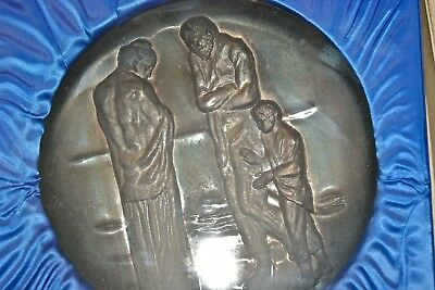 "10oz .999 Silver Hamilton Mint ""Tribute to Picasso"" Plate The Tragedy"