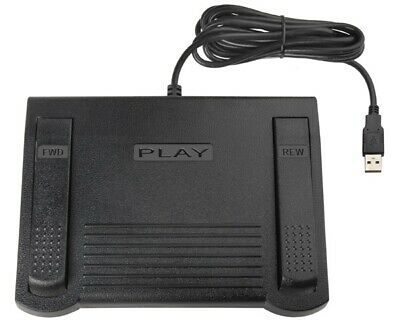 ECS FPAE USB Transcription Foot Pedal to Use With Free Version of Express Scribe
