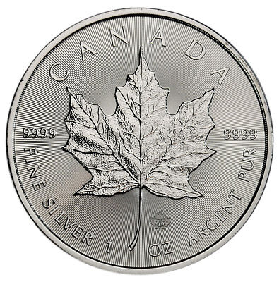 2019 Canada 1 oz. Silver Maple Leaf $5 Coin GEM BU PRESALE SKU55534