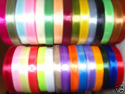 30 SATIN RIBBON ROLLS Size 10MM, 30 Colours 750 Yards, Amazing Value RRP £45