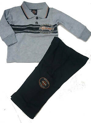 Baby Boy Harley-Davidson Motorcycles Outfit Set, Polo & Pants Infant